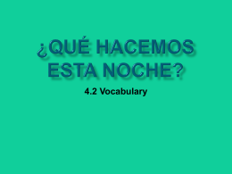 Vocabulario PPT - Profe. Burke