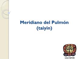Meridiano del Pulmón (taiyin)