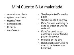 Mini Cuento B-La malcriada