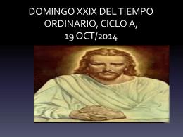 DOMINGO XXIX DEL TIEMPO ORDINARIO, CICLO A, 19 OCT/2014