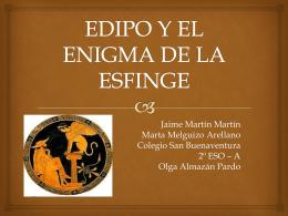 EDIPO Y EL ENIGMA DE LA ESFINGE
