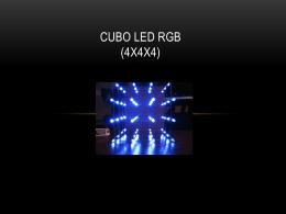 CUBO LED RGB (4x4x4)