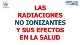las radiaciones no ionizantes y sus efectos en la salud