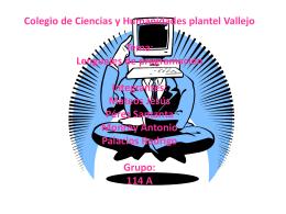 Colegio de Ciencias y Humanidades plantel Vallejo Tema