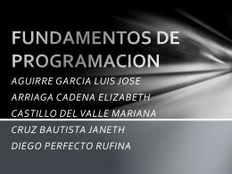 FUNDAMENTOS DE PROGRAMACION
