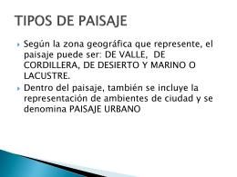 TIPOS DE PAISAJE - Colegio Dario Salas