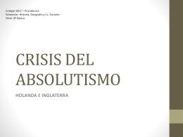 PPTX Crisis del absolutismo (8° A).