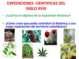 EXPEDICIONES CIENTIFICAS DEL SIGLO XVIII