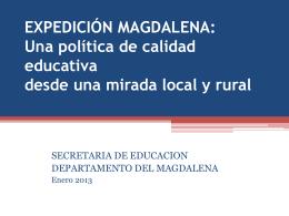 Calidad. - Secretaría de Educación del Magdalena