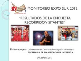 monitoreo expo sur 2012 - Gobernacion del Departamento de Tarija