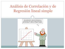 Análisis de Correlación y de Regresión lineal simple