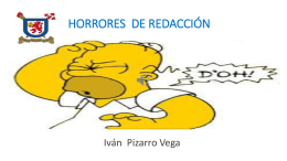 HORRORES DE REDACCIÓN