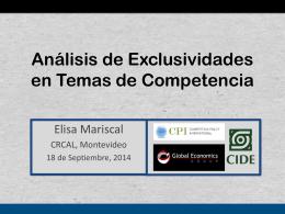 Estudio sobre Exclusividades – Elisa Mariscal