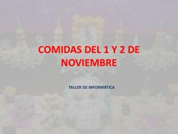 COMIDAS DEL 1 Y 2 DE NOVIEMBRE
