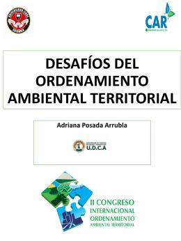 DESAFÍOS DEL ORDENAMIENTO AMBIENTAL TERRITORIAL