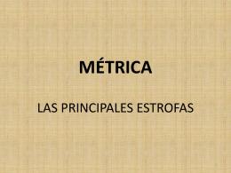 MÉTRICA - departamento de castellano. ies conselleria