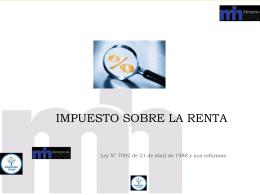6-RESENTACIÓN IMPUESTO SOBRE LA RENTA - UTN-CONTA-IV