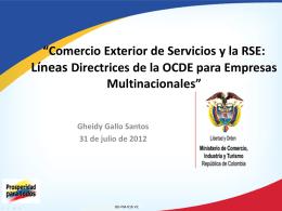 """Gheidy Gallo Santos – """"Comercio Exterior de Servicios y la RSE"""