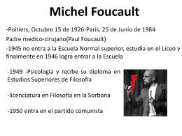 Michel Foucault - teoriasdelestado