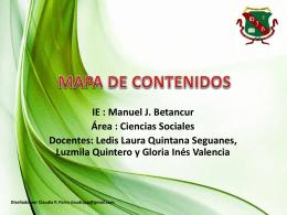 MAPA DE CONTENIDOS SOCIALES CICLO 3