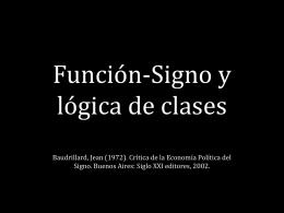 Semana 10. Funcion-signo y logica de clases