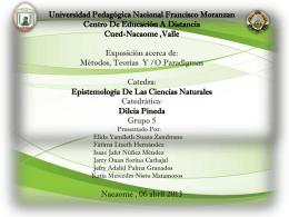 DIAPOSITIVA ACERCA DE METODOS TEORIAS Y