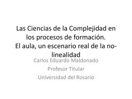 Las Ciencias de la Complejidad en los procesos de formación. El