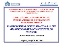 intercambio de información entre competidores