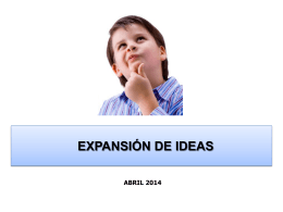 EXPANSION DE IDEAS