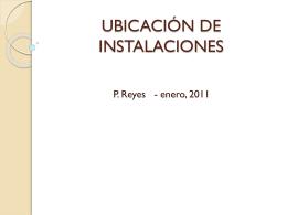 UBICACIÓN DE INSTALACIONES