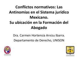 Conflictos normativos - Academia Jurídico Formativa
