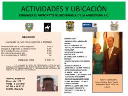 ACTIVIDADES Y UBICACIÓN