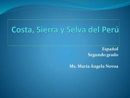 Costa, Sierra y Selva del Perú - ESPAÑOL OFICIAL MS. MAGALI A