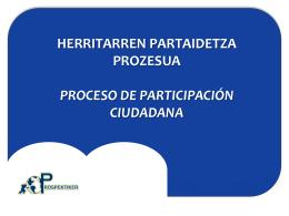 Resumen Primera Sesión de Participación Revisión del