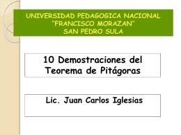 10 demostraciones del teorema de Pitágoras