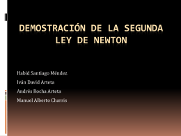 Demostración De La Segunda Ley De Newton.
