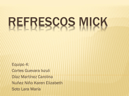 Refrescos MICK - WordPress.com