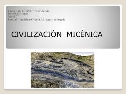 Micénicos. - SSCC Providencia