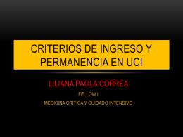 Criterios de ingreso y permanencia en uci (1