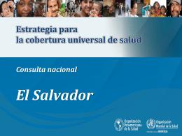 Presentación sobre estrategia de cobertura universal de salud