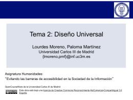 Tema 2: Diseño Universal - Universidad Carlos III de Madrid