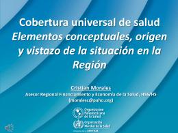 Estrategia regional para la cobertura universal de salud. Reunión