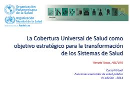 PPT sobre Cobertura Universal. - Aula Virtual Regional. Campus