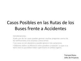 Casos Posibles en la Rutas de los Buses frente a