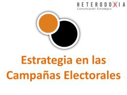 Presentación: Estrategias en las Campañas Electorales