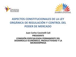 ASPECTOS CONSTITUCIONALES DE LA LEY