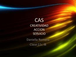 CAS CREATIVIDAD ACCION SERVICIO