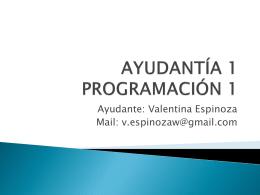 AYUDANTÍA 1 - Valentina Espinoza