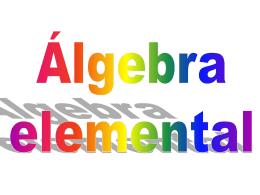 Algebra Capitulo 1