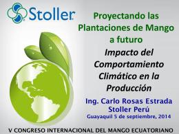 Impacto del Comportamiento Climático en la Producción.